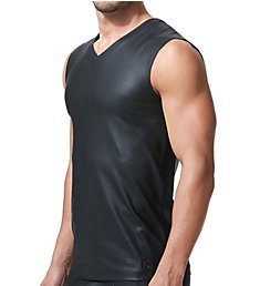 Gregg Homme Crave Faux Leather Muscle Shirt 152622