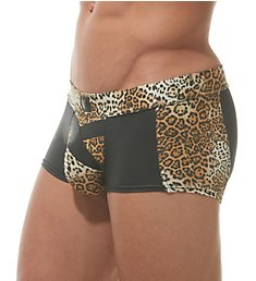 Gregg Homme Captive Faux Leather Leopard Boxer Brief 162305