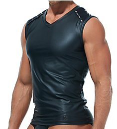Gregg Homme Scorpio Faux Leather Muscle Shirt 173222