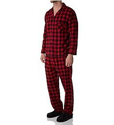 Hanes Big Man Plaid Flannel Pajama Set 4039B