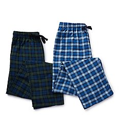 Hanes Tall Man Plaid Flannel Pants - 2 Pack 4086T