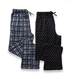 Hanes X-Temp Printed Knit Lounge Pants - 2 Pack 4227