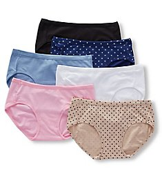 Hanes Cotton Stretch Hipster Panties - 6 Pack ET41A6