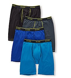 Hanes Ultimate Sport Mesh Long Leg Boxer Briefs - 4 Pack UMBLB4