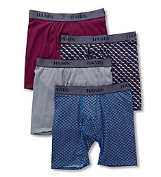Hanes Platinum Stretch Boxer Briefs - 4 Pack YTBBB4