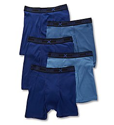Hanes Combed Cotton Assorted Boxer Briefs - 5 Pack YXBB5A