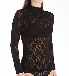 Hanky Panky Signature Lace Long Sleeve Turtleneck Top 48T524
