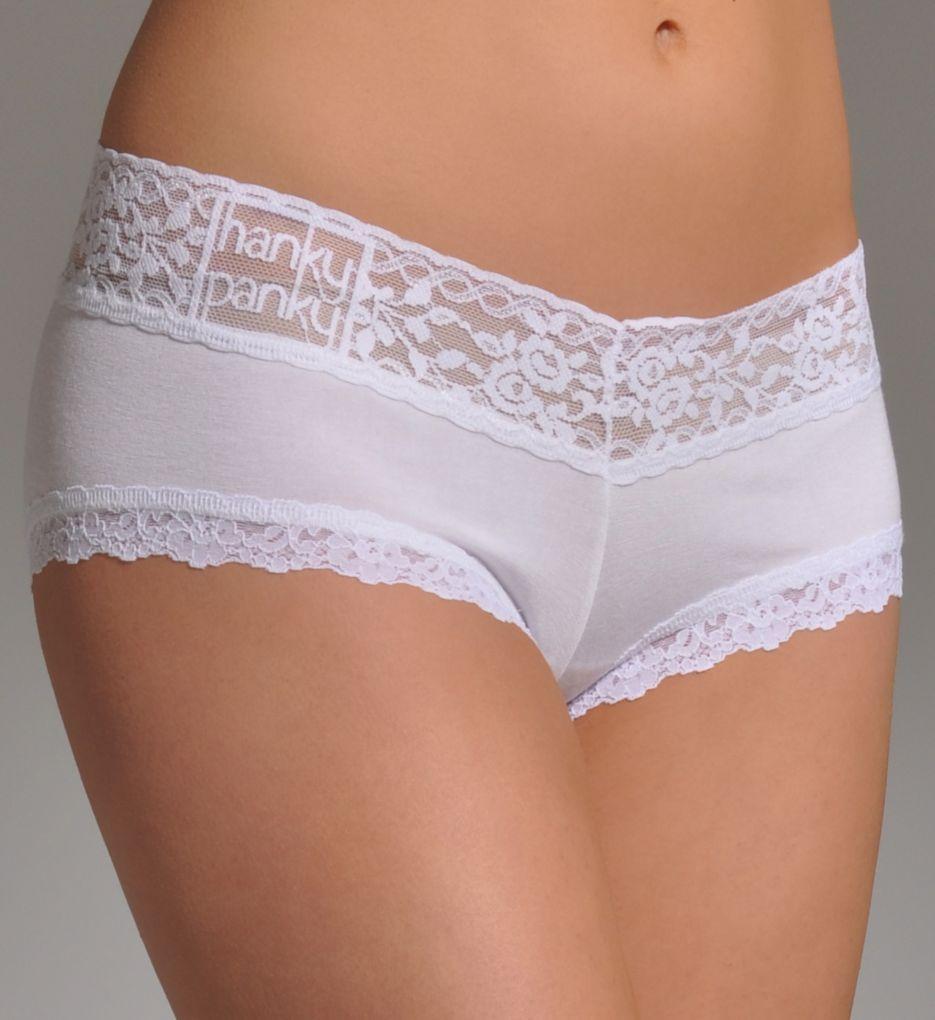 Hanky Panky Logo To Go Modal Boyshort Panty 632151