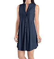 Hanro Cotton Deluxe Button Front Tank Gown 7952