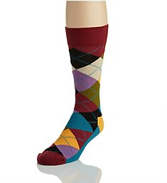 Happy Socks Argyle Combed Cotton Crew Sock AR01-048