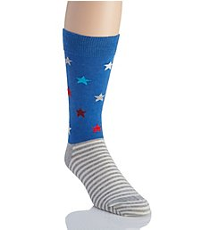 Happy Socks Star Stripe Combed Cotton Crew Sock SR016000