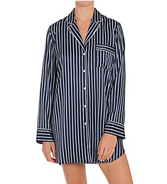 In Bloom by Jonquil Satin Stripe Sleepshirt SOI160
