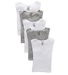Izod Essentials Cotton A-Shirts - 5 Pack 00CPT07