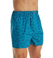 Izod Men's Fashion Printed Woven Boxer 163UH06