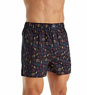 Izod Men's Fashion Printed Woven Boxer 163UH06