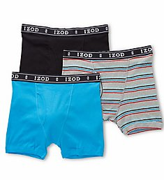 Izod Men's Knit Boxer Briefs - 3 Pack 171PB10