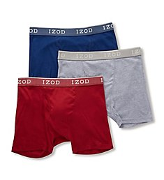 Izod Men's Cotton Boxer Briefs - 3 Pack 181PB10