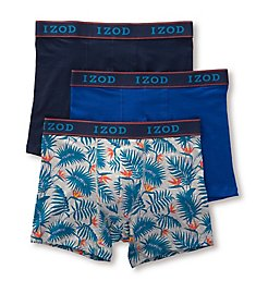 Izod Tropical Mix Cotton Stretch Boxer Brief - 3 Pack 181WB12