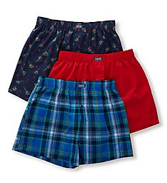 Izod Men's Woven Boxers - 3 Pack 181WB15