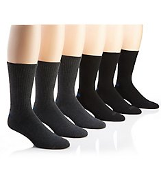 Izod Athletic Crew Socks - 6 Pack 183CR01