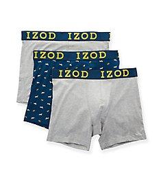 Izod Cotton Stretch Boxer Briefs - 3 Pack 193QB22