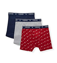 Izod Holiday Cotton Boxer Briefs - 3 Pack 193UG04