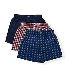 Izod Fall Festival Woven Boxers - 3 Pack 193WB15