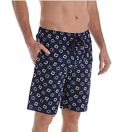 Izod Cotton Poplin Tropical Print Sleep Short IZ5000W