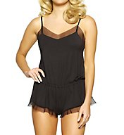 Jezebel Kirsten Modal Romper with Stretch Tulle 999802