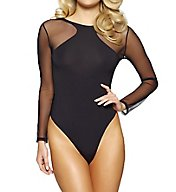 Jezebel Kirsten Modal Bodysuit with Tulle Thong Back 999804