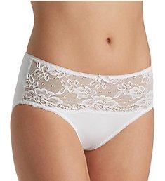 Jones New York Lace Front Panel Hi Cut Brief Panty 610206