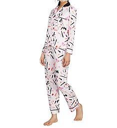 Kate Spade New York Gifty Pajama Set with Matching Eyemask 5091456