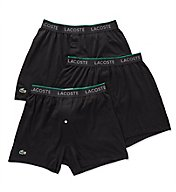 Lacoste Essentials 100% Cotton Knit Boxers - 3 Pack RAM8101