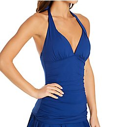 Lauren Ralph Lauren Lauren Essentials Slimming Halter Tankini Swim Top 101026