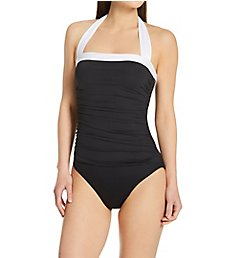 Lauren Ralph Lauren Bel Aire Shirred Mio One Piece Swimsuit 110001