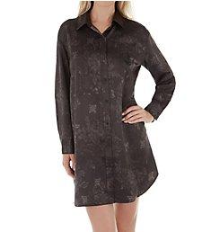 Lauren Ralph Lauren Sleepwear Satin Long Sleeve Button Front Sleepshirt LN31644