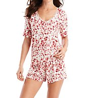 Maidenform Floral Bloom Lace Trim Top and Short Set MFS7740