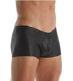 Male Power Black Cobra Snakeskin Mini Trunk 145-176