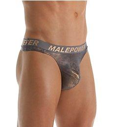 Male Power Crock Foil Low Rise Thong 438-213