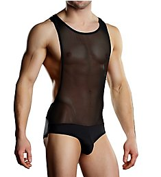 Male Power Sheer Spandex Singlet PAK-890