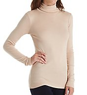 Michael Stars Shine Long Sleeve Turtleneck Top 0338
