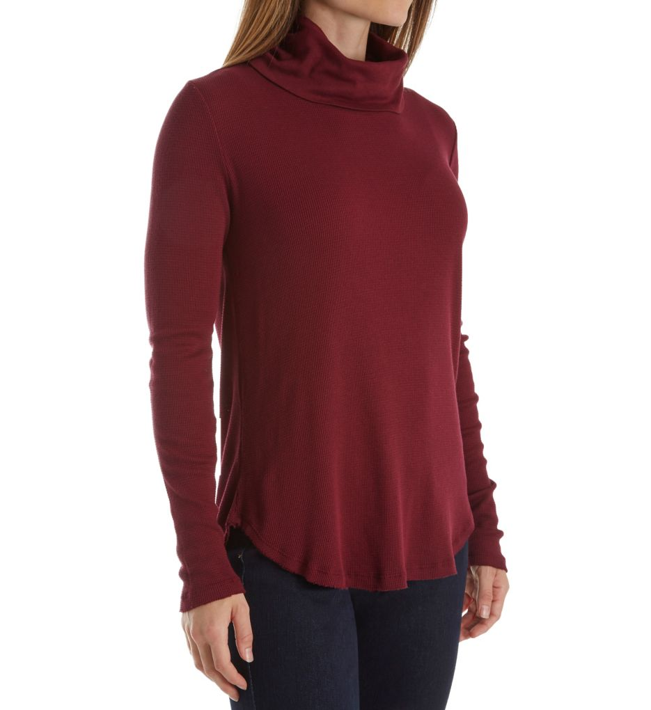 Michael Stars Thermal Long Sleeve Cowl Neck Tee 1443