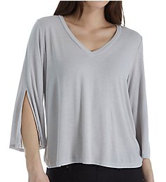 Michael Stars 3/4 Slit Sleeve V-Neck Top 2337