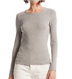 Michael Stars Ultra Rib Rachel Slim Long Sleeve Tee 2572