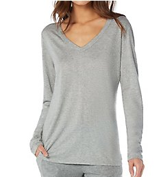 Michael Stars Ultra Jersey Long Sleeve Basic V-Neck Tee 2655