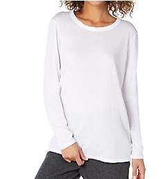 Michael Stars Ultra Jersey Long Sleeve Basic Crew Neck Tee 2686