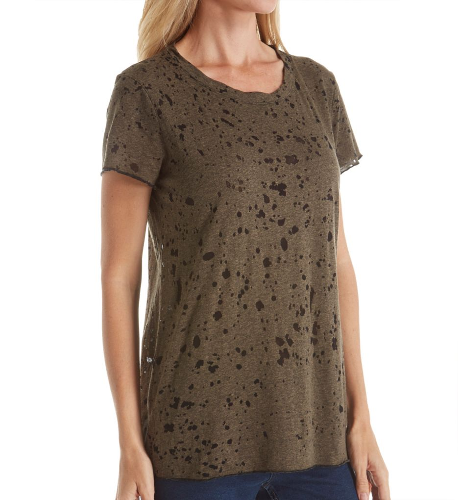 Michael Stars Splatter Burnout Short Sleeve Tee 5865