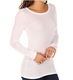 Michael Stars 1x1 Slub Long Sleeve Banded Crew Neck 6128