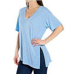 Michael Stars Brooklyn Jersey Jasper Double V Neck Tee 6954