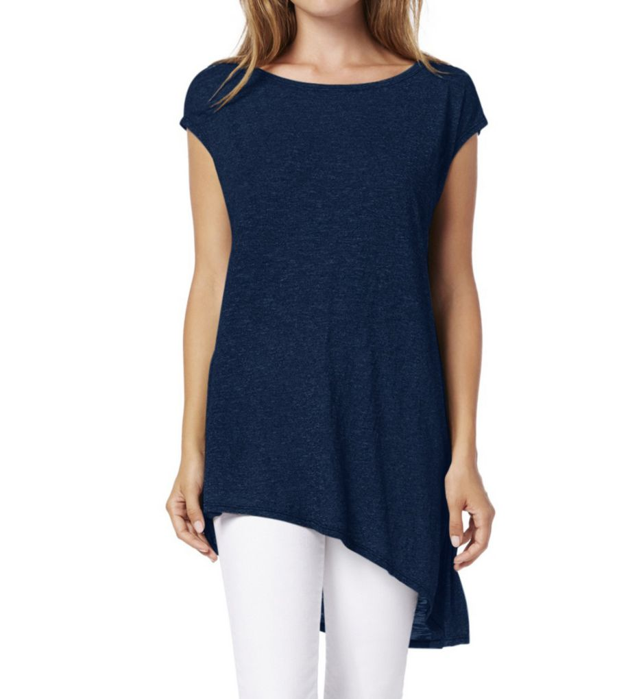 Michael Stars Brooklyn Jersey Boat Neck Asymmetric Hem Tee 6995